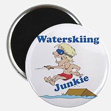 """Waterskiing Junkie 2.25"""" Magnet (10 pack)"""