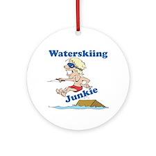 Waterskiing Junkie Ornament (Round)