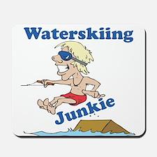 Waterskiing Junkie Mousepad