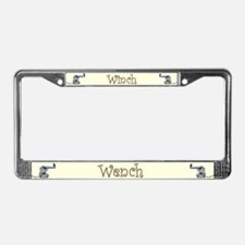 Winch Wench License Plate Frame