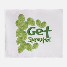 Get Sprouted Throw Blanket