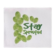 Stay Sprouted Throw Blanket