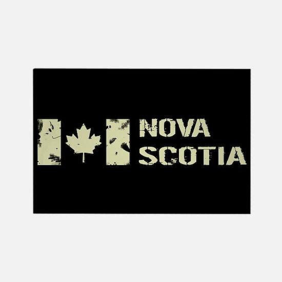 Canadian Flag: Nova Scotia Rectangle Magnet