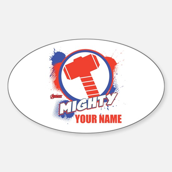 Avengers Assemble Mighty Thor Perso Sticker (Oval)