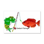 Combat-Fishing(r) Fish Vs Fish Car Magnet 20 X 12