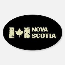Canadian Flag: Nova Scotia Sticker (Oval)
