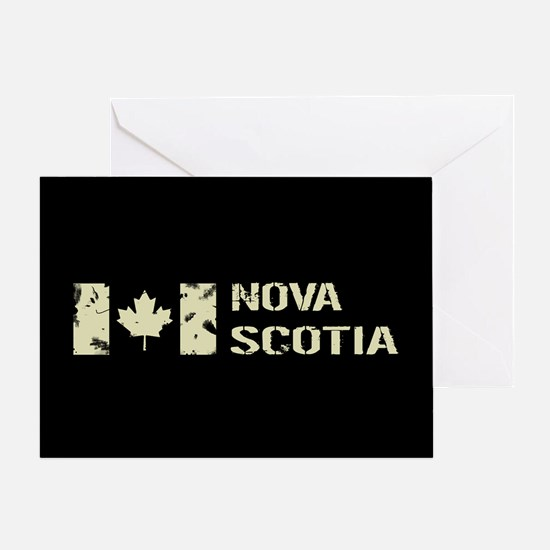 Canadian Flag: Nova Scotia Greeting Card