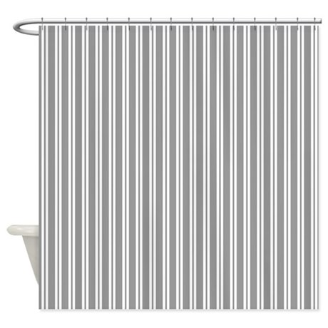 Gray Stripes Shower Curtain By Admin Cp2452714