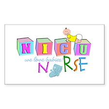 Nicu Nurse BABY BLOCKS Decal