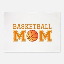 Basketball mom 5'x7'Area Rug