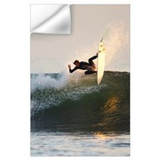California, San Clemente, Surfer Carving Wave, Eve Wall Decal