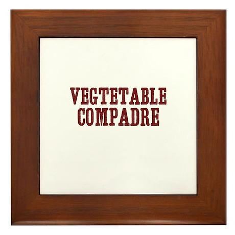 vegtetable compadre Framed Tile