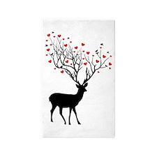 Oh, my deer 3'x5' Area Rug