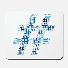 Blue Hashtag Cloud Mousepad