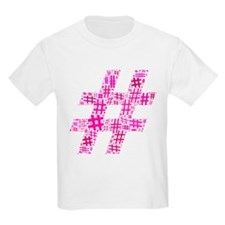 Pink Hashtag Cloud T-Shirt