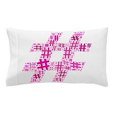 Pink Hashtag Cloud Pillow Case