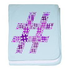 Purple Hashtag Cloud Infant Blanket