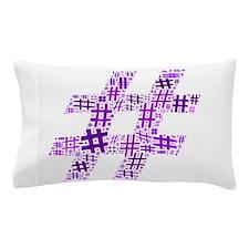 Purple Hashtag Cloud Pillow Case
