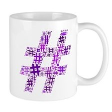 Purple Hashtag Cloud Mug