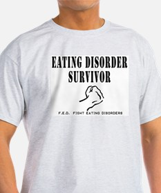 Eating Disorder Survivor Ash Grey T-Shirt
