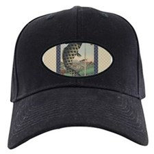 Vintage Japanese Koi Woodblock Baseball Hat