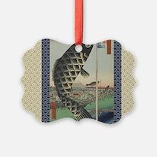 Vintage Japanese Koi Woodblock Ornament