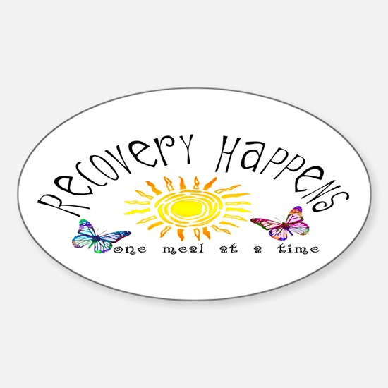 Recovery Happens Oval Bumper Stickers