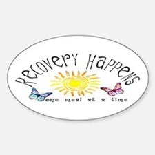 Recovery Happens Oval Decal