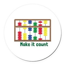 Make It Count Round Car Magnet