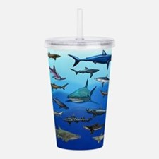 Shark Gathering Acrylic Double-wall Tumbler