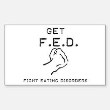 Get F.E.D. Rectangle Bumper Stickers