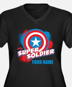 Avengers Ass Women's Plus Size V-Neck Dark T-Shirt