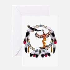 EAGLE DANCER Greeting Cards
