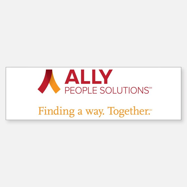 ALLY People Solutions with Tagline Bumper Bumper Bumper Sticker