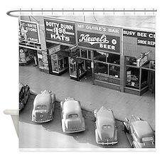 Cute Vintage north dakota Shower Curtain