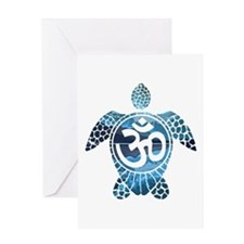 Ohm Turtle Greeting Cards