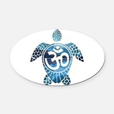 Ohm Turtle Oval Car Magnet