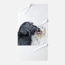 Doodle Love Beach Towel