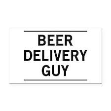 Beer Delivery Guy Rectangle Car Magnet
