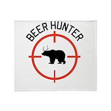 Beer Hunter Throw Blanket