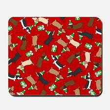Merry Dachshunds Mousepad
