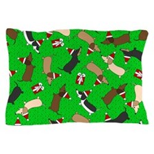 Merry Dachshunds Pillow Case