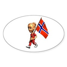 Norway Girl Oval Decal