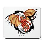 Winged Devil Tattoo Mousepad