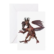 Red Dragon Greeting Cards (Pk of 10)