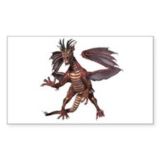 Red Dragon Rectangle Decal