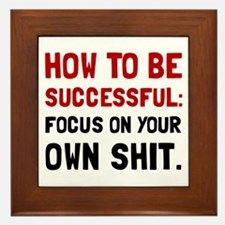 How To Be Successful Framed Tile