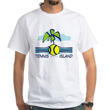 Tennis ball island with palm tree design T-Shirt