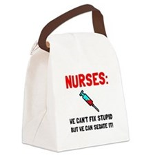 Nurses Sedated Canvas Lunch Bag