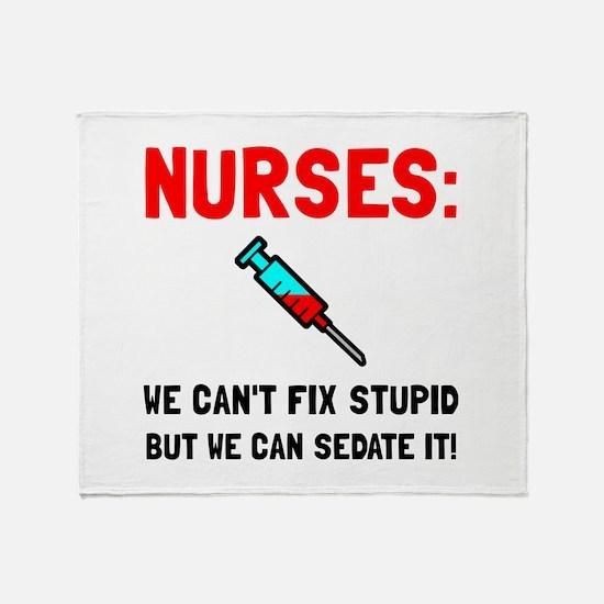 Nurses Sedated Throw Blanket